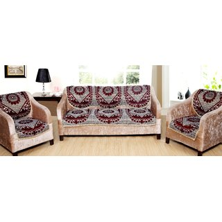 Valtellina 6 Piece chenille Sofa and Chair Cover Set