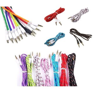 Aux Cable - 1 piece,1 meter (colour may vary )