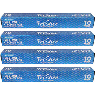 0a34c85164d 10%off Freshee 10 mtrs 10.5 microns thick Aluminium Kitchen Foil Roll Pack  of 4 for Multipurpose use