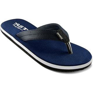 A-Star Casual Slippers for men (CLG - 01)  Black / Navy / Tan