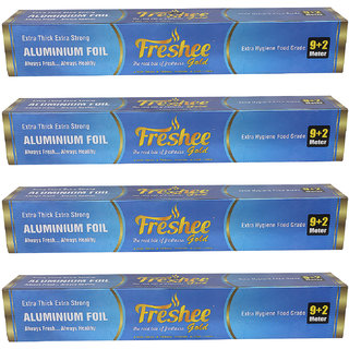 9632b4ac021 10%off Freshee 11 mtrs 14 microns thick Aluminium Kitchen Foil Roll Pack of  4 for Multipurpose use