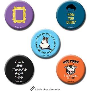 Friends| Fridge Magnet + Pin Badge | Set of 5