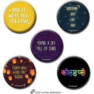 Coldplay | Fridge Magnet + Pin Badge | Set of 5