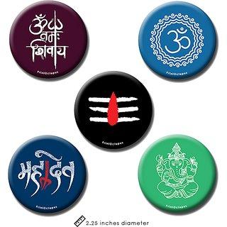 Spiritual | Fridge Magnet + Pin Badge | Set of 5