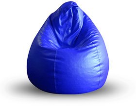 Style Homez Classic Bean Bag XL Size Royal Blue Color Filled with Beans Fillers