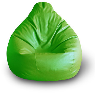 Style Homez Classic Bean Bag XXL Size Green Color Filled with Beans Fillers