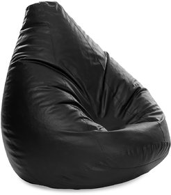 Style Homez Classic Bean Bag Jumbo SAC Size Black Color Filled with Beans Fillers