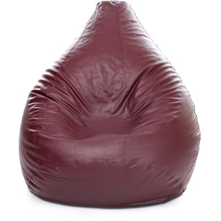 Style Homez Classic Bean Bag XXXL Size Maroon Color Filled with Beans Fillers
