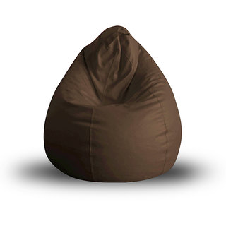 Style Homez Classic XL Bean Bag Cover Chocolate Brown Color, Premium Leatherette Fabric