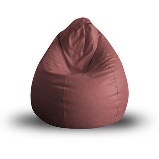 Style Homez Classic XL Bean Bag Cover Maroon Color, Premium Leatherette Fabric