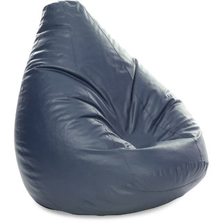 Style Homez Classic Jumbo SAC Bean Bag Cover Grey Color, Premium Leatherette