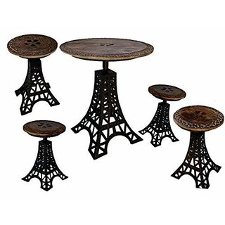 Royal design combo pair table stool set / table