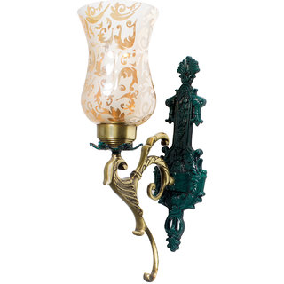 Fos Lighting Regal Green Patina and Golden Single Wall Sconce