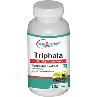 Way2Herbal Triphala 120 Tablets