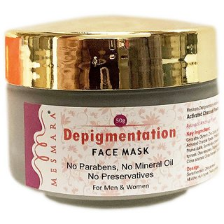 Mesmara Depigmentation Face Mask With Activated Charcoal 50 g suitable for both men  women and for all skin types