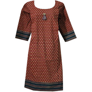 K T COLLECTION COTTON MATERNITY FEEDING KURTI WITH VERTICAL ZIPPERS KTMTRN67