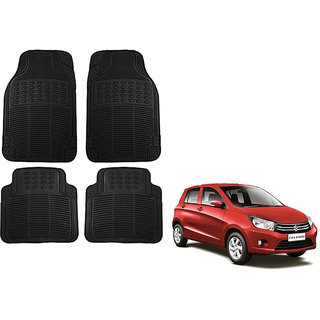 Auto Addict Car Simple Rubber Black Mats Set of 4Pcs For Maruti Suzuki Celerio