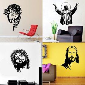 Eja Art Set of 4 Multicolor Wall Sticker Jesus Jesus Christ Jesus Christ New Jesus New - Material  Vinyl