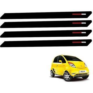 Auto Addict Black Red Designer Bumper Protector Set of 4 Pcs For Tata Nano
