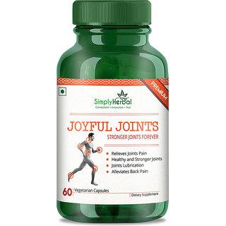 Simply Herbal Joyful Stronger Joints, 800 mg (60 Veg Capsules)