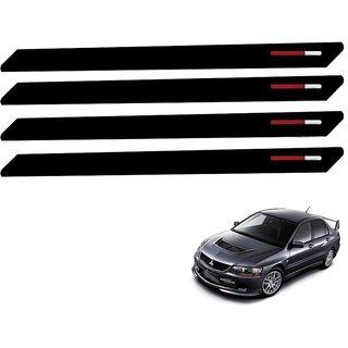 Auto Addict Black Red Designer Bumper Protector Set of 4 Pcs For Mitsubishi Lancer