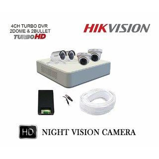 Hikvision DS-7A04HGHI-F1/(ECO) Turbo HD DVR 1Pcs plus Dome Camera