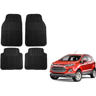 Auto Addict Car Simple Rubber Black Mats Set of 4Pcs For Ford Ecosport
