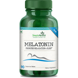 Simply Herbal Melatonin for Healthy Sleep Cycle - 90 Pills