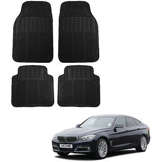 Auto Addict Car Simple Rubber Black Mats Set of 4Pcs For BMW 3 GT