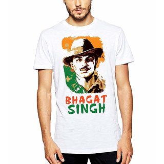 6f8fdd9f5 Buy DOUBLE F ROUND NECK WHITE COLOR BHAGAT SINGH PRINTED T-SHIRTS Online -  Get 50% Off