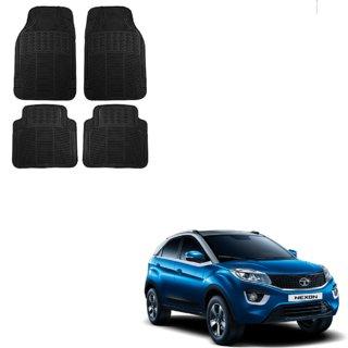 Auto Addict Car Simple Rubber Black Mats Set of 4Pcs For Tata Nexon