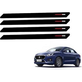 Auto Addict Black Red Designer Bumper Protector Set of 4 Pcs For Maruti Suzuki New Swift Dzire 2017