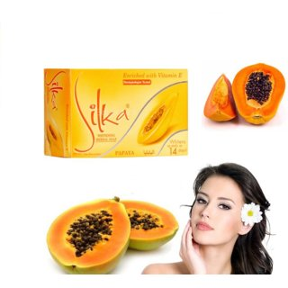 Silka Papaya Soap For Face Skin Oil Control