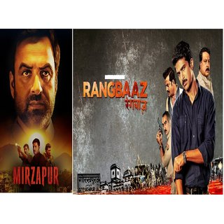 Mirzapur and Rangbaaz ( Number of seasons 9 each ) it's burn DATA DVD play only in computer or laptop clear voice HD pr