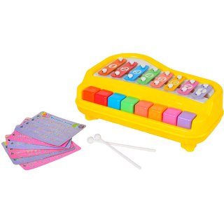 8 Keys Children Toy Happy Xylophone Marimba Attached 6 Pieces Of Scores