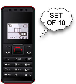 Set of 10 I KALL K28 Single Sim Feature Phone Red 144inch36 cm