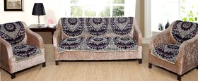 Welhouse India 6 Piece chenille Sofa and Chair Cover Set
