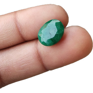 Colombian Emerald Stone 5.55 Carat Certified Panna Gemstone
