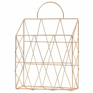House of Quirk Magazine Holder, Metal Wire Magazine Newspaper Holder Wall Mounted Hanging Magazine Rack File Holder Deco