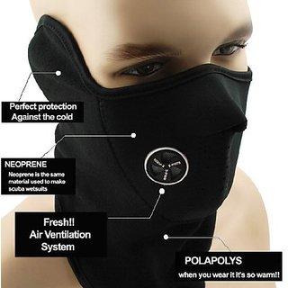 Generic (unbranded) - Neoprene Half Face Bike Riding Mask ( Black ) (set of 1 ) By EVERGREEN