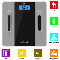 Healthgenie Fitness Body Fat Analyzer, Composition Monitor and Weighing Scale(Gray)