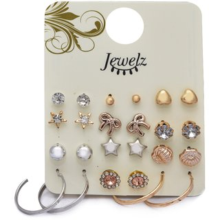 Jewelz 12 pair combo earring