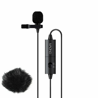 MAONO AU100 Hands Free Clip-on Lapel Mic with Omnidirectional Condenser for Podcast  Recording  Smartphone and Camera's