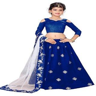 F Plus Fashion  Kids Party Wear Lehenga Choli Set For Girls