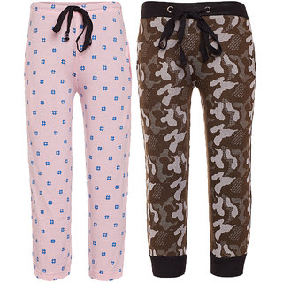 Vimal Multicolor Cotton Trackpants For Boys (Pack Of 2)