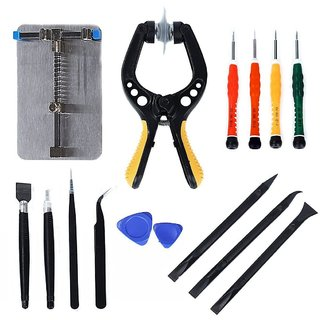 DIY Crafts India 15 Pieces LCD Screen Opening Pliers Opening Repair Tool Kit for Cell Phone and Electronic Products Maintenance