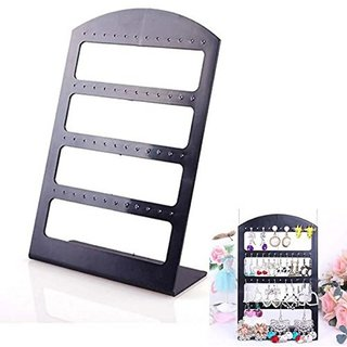 DIY Crafts Jewelry Organizer Stand Plastic Earring Holder Fashion Display