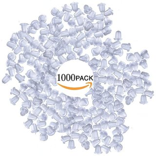DIY Crafts 1000 PCS Clear Rubber Soft Earring Plastic Back Posts Plugs antiallergic Silicon Safety Stud Earrings stoppers earnuts blocke Accessories