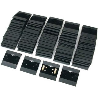 DIY Crafts Black Velvet Plastic Display Cards for Earrings (2 X 2 Inches) (Pack of 100 Cards)