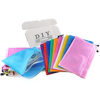 DIY Crafts A4 Zipper File Bags,Double Layers Mesh Envelope Ducument Holder(Pack of 10 Pcs)
